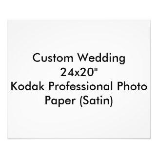"""Custom Wedding 24x20""""  Kodak Pro Photo Paper Satin"""