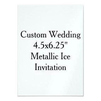 "Custom Wedding 4.5"" x 6.25"" Pearl Invitation"