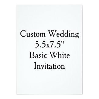 """Custom Wedding 5.5x7.5""""  Basic White Invitation"""