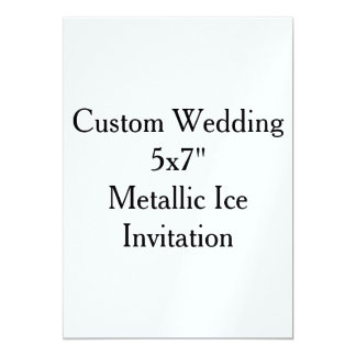 "Custom Wedding 5"" x 7"" Pearl Shimmer Invitation"