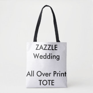 Custom Wedding ALL OVER PRINT Tote Bag MEDIUM