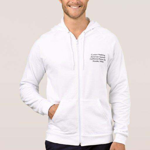 Custom Wedding American Apparel Fleece Zip Hoodie Hooded Pullovers
