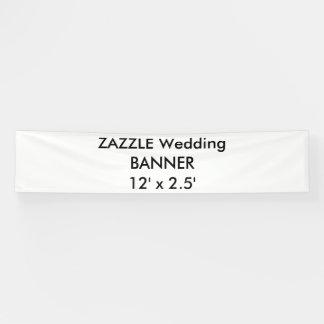 Custom Wedding Banner 12' x 2.5'