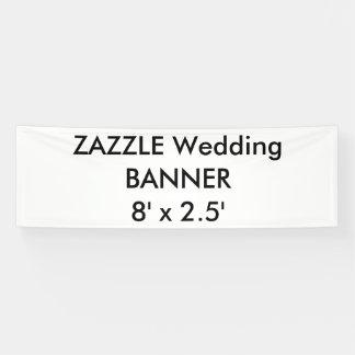 Custom Wedding Banner 8' x 2.5'