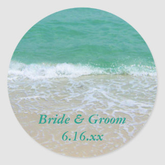 Custom Wedding Beach Favor Stickers