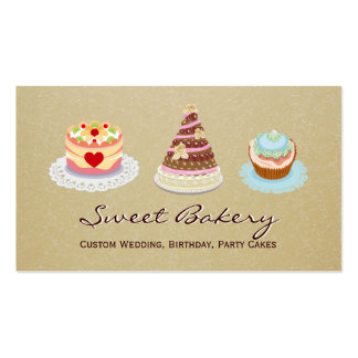 Custom Wedding Birthday Party Cakes Bakery Store Pack Of Standard Business Cards