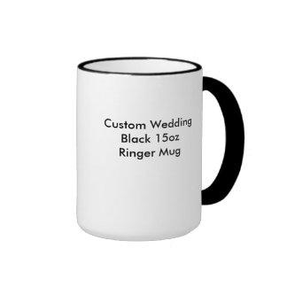 Custom Wedding Black 15oz  Ringer Mug