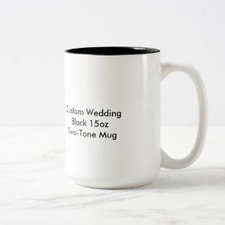 Custom Wedding Black 15oz Two-Tone Mug