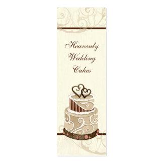 Custom Wedding Cake Modern Dot Stripe Swirls Business Card Templates
