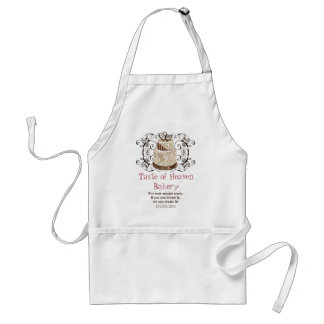 Custom Wedding Cake Modern Dot Stripe Swirls Standard Apron