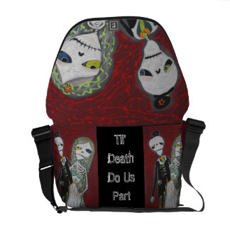 Custom Wedding Couple / Married Dead Rickshaw Mess Commuter Bag