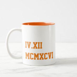 Custom Wedding Date Art Two-Tone Coffee Mug