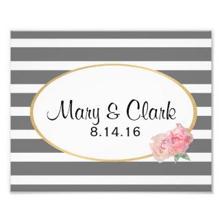 Custom Wedding Decor, Couples Names & Date Photo