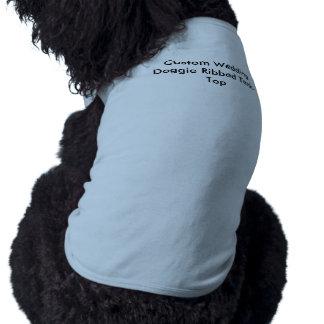 Custom Wedding Doggie Ribbed Tank-Top Pet Tee