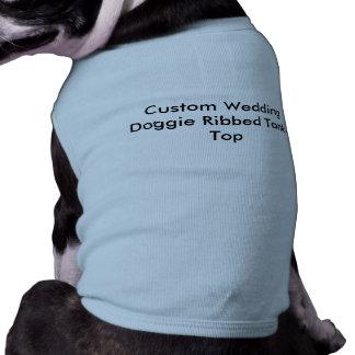 Custom Wedding Doggie Ribbed Tank-Top Pet Clothes