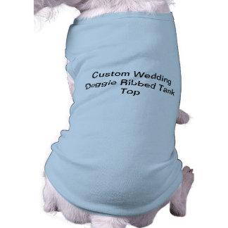Custom Wedding Doggie Ribbed Tank Top Sleeveless Dog Shirt