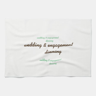 custom wedding & engagement kitchen towel