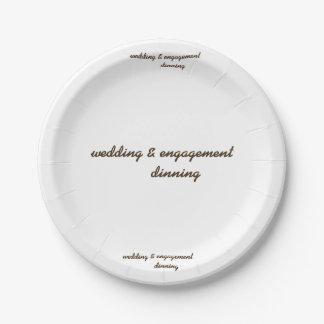 custom wedding & engagement paper plate