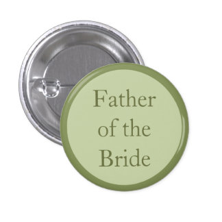 Custom Wedding Father of the Bride Pinback Buttons Pinback Button