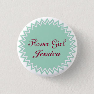 Custom Wedding Flower Girl Buttons