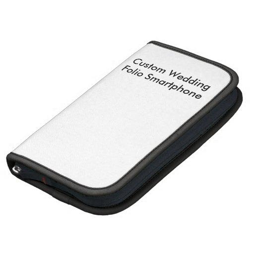 Custom Wedding  Folio Smartphone Organizer