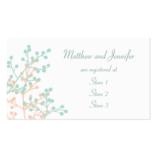 Custom Wedding Gift Registry Cards Pack Of Standard Business Cards
