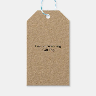 Custom Wedding Gift Tags Kraft