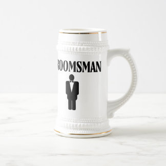 Custom Wedding Groomsman Beer Stein