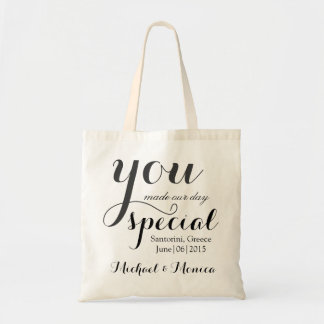 Custom Wedding Hotel Gift Tote Bag