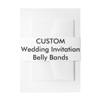 Custom Wedding Invitation Belly Bands Wraps Invitation Belly Band