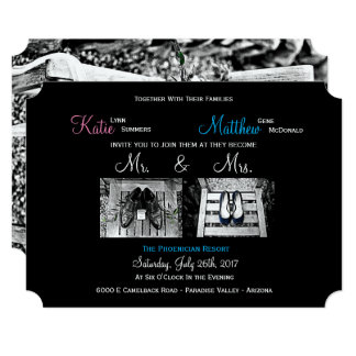 Custom Wedding Invitations - Add your own photos!