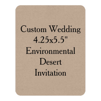 Custom Wedding Kraft Environmental Desert Invit 11 Cm X 14 Cm Invitation Card