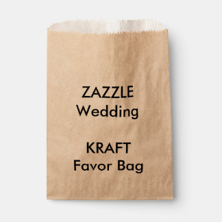 Custom Wedding KRAFT Paper Favor Bag
