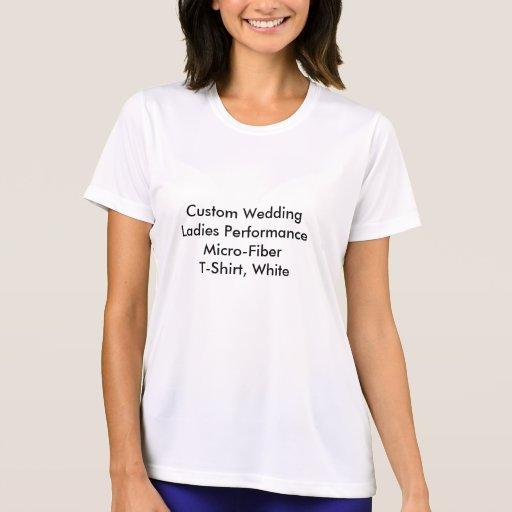 Custom Wedding Ladies Performance Micro-Fiber  Tee