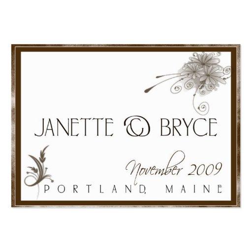 Custom Wedding Logo card Business Cards