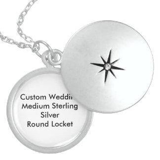 Custom Wedding Medium Sterling Silver Round Locket Lockets