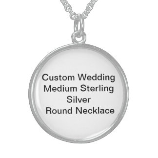 Custom Wedding Medium SterlingSilver RoundNecklace Personalized Necklace