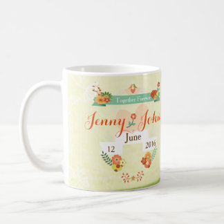 Custom Wedding Mug with Photo, Name and Date
