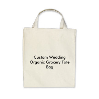 Custom Wedding Organic Grocery Tote Bag Bag