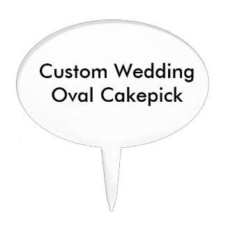 Custom Wedding Oval Cakepick Cake Toppers