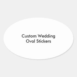 Custom Wedding Oval Stickers
