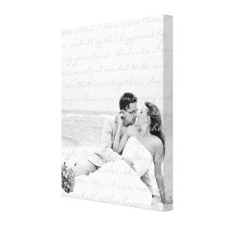 Custom Wedding Photo and Lyrics Canvas Art Stretched Canvas Print