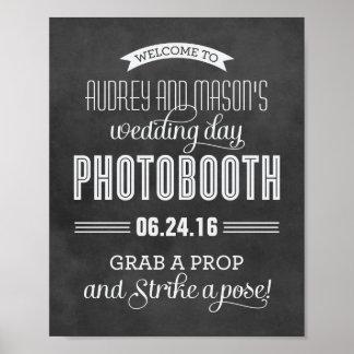 Custom Wedding Photo Booth Sign   Black Chalkboard