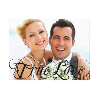 Custom Wedding Photo Keepsake True Love Canvas Gallery Wrapped Canvas