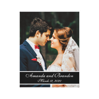 Custom Wedding Photo Modern Template Canvas Gallery Wrapped Canvas