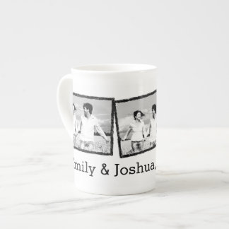 Custom wedding photo mug Save the date