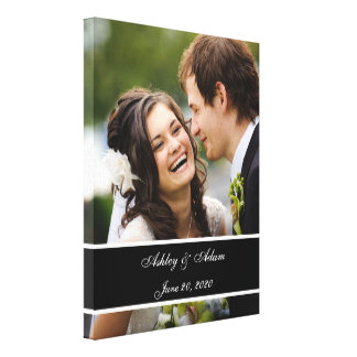 Custom Wedding Photo Personalized Keepsake Stretched Canvas Print