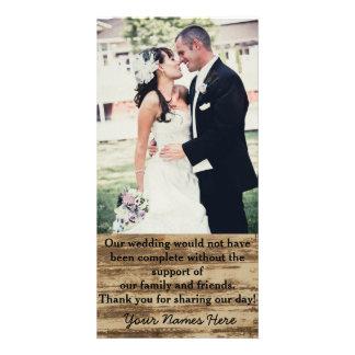 Custom Wedding Photo Thank you Cards