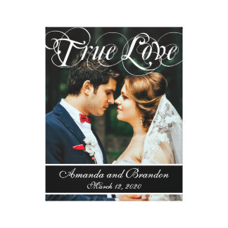 Custom Wedding Photo True Love Keepsake Canvas Canvas Prints