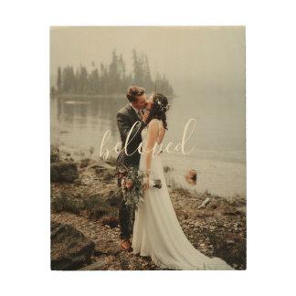 Custom Wedding Portrait with Your Words Wood Wall Decor